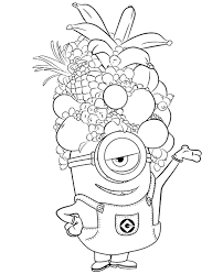 Fruits Hat Colouring Sheets For Free Print Friendly