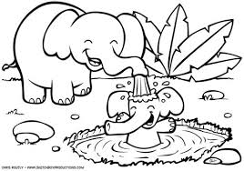 Baby Safari Animals Coloring Pages