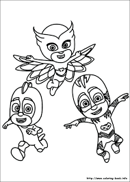 Pj Mask Coloring Pages Masks Pictures To Print And Color Last Updated May Ninja K Romeo