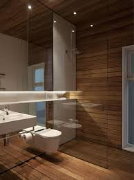 modernes bad mit holz 27 ideen für möbel boden wand