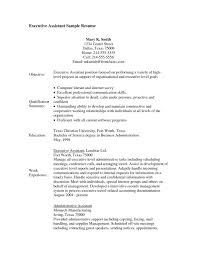 Unique Administrative Assistant Objective Resume Examples Of Resumes Summary Entry Level