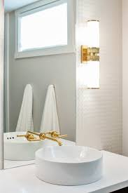 gold faucet contemporary bathroom madison taylor design