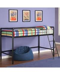 DEAL ALERT Myron Junior Twin Low Loft Bed Finish Black Metal
