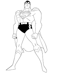 Superhero Superman Coloring Book To Print