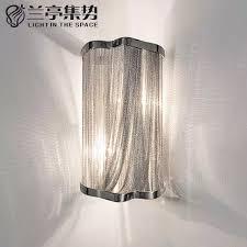 moderne klassische aluminium kette wandleuchte luxus kette lichter schlafzimmer esszimmer hotel led wandbeleuchtung kostenloser versand