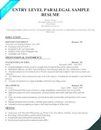 Entry Level Legal Assistant Resume Templates Free Paralegal Sample Job Description Examples Re