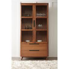 kirkwood american walnut modern china cabinet walnut