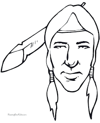 Thanksgiving Indian Preschool Coloring Pages 021