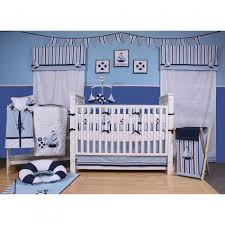 Geenny Crib Bedding by Bacati Little Sailor Blue Navy Boys 10 Piece Boys Nursery In A Bag