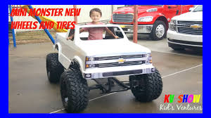 100 Mini Monster Trucks Truck Getting Tires And Wheels Fun Toys For Kids