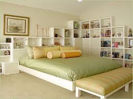 Designer Bedroom Ideas Featuring Decorative White Solid Wood Wall Open Storage And Comfortable King Bed Matterss As Well Design Uk