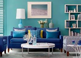 lagoon blue living room with lime green accents color paint