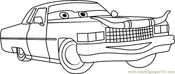 Tex Dinoco From Cars 3 Coloring Page