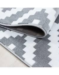 moderner wohnzimmer elegance designer teppich kurzflor grau weiss