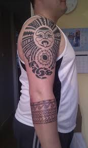 Cool Solid Forearm Band Tattoo For Man
