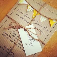 Shabby Chic Bunting Wedding Invite