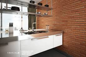 brick kitchen wall decor treatment designs front house