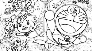 Doraemon Free Coloring Page