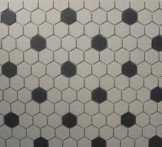 hexagon tile white black unglazed 1 inch mosaic world by