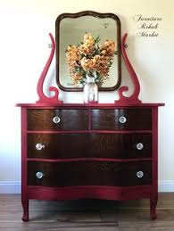 Tiger Oak Serpentine Dresser by Before U0026 After Antique Princes Dresser With Mirror Done By Rehab