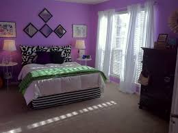 Purple Bedroom Decor Idea With Comfy And Elegant Bedding A Pair Of Round Bedside Tables