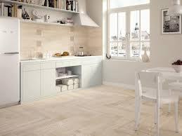 Tile Flooring Ideas For Kitchen by Wood Look Tile Light Wooden Tiled Kitchen Splashback And Floor