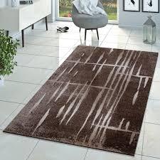 moderner wohnzimmer teppich matrix design kurzflor meliert braun beige creme größe 230x320 cm