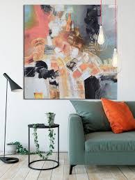 grau und lachs rosa bild auf leinwand taupe und rosa quadratische leinwand moderne kunst große geometrische leinwand wohnzimmer dekor büro