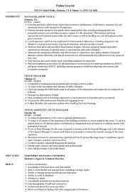 Download Venue Manager Resume Sample As Image File
