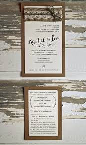 Rustic Eco Chic Nautical Wedding Invitations With Hessian Lace And Twine The