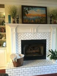 best 25 subway tile fireplace ideas on white