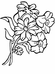 Wedding Bouquet Colouring Pages Of Flowers Drawing