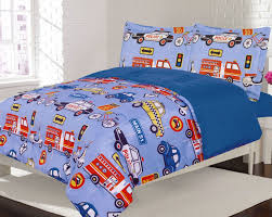 Crest Home Adore Twin 2 Piece Bedding Comforter Bed Set, Boys Cars ...