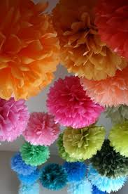 1 Tissue Paper Pom Poms Diy Party Decorations Home Design 33