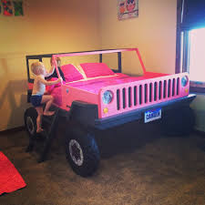 Corvette Toddler Bed by Pink Jeep Bed Kids Jeep Pink Girls Bed Beds Pinterest