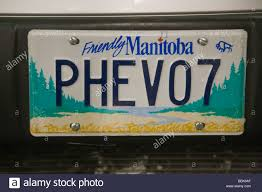 Plug-in Hybrid Electric Vehicle License Plate On A Truck Displayed ...