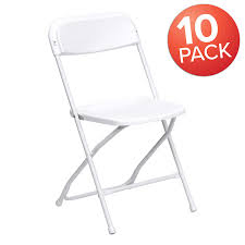 Flash Furniture 10 Pk. HERCULES Series 650 Lb. Capacity Premium White  Plastic Folding Chair Flash Fniture 10 Pk Hercules Series 650 Lb Capacity Premium White Plastic Folding Chair Bar Height Directors In Blue Lawn 94 Inspirational Models Of Camping Replacement How To Upholster A The Family Hdyman Compact Chairs Accsories Richwood Imports Vtip Stabilizer Caps 100 Pack Fits 78 Od Tube Top Of Leg Parts Works With Metal And Padded Sports Individual Pieces Stability For National Public Seating 50 All Steel Standard Double Brace 480 Lbs Beige Carton 4 Foldable Alinum Green Berkley Jsen Gray