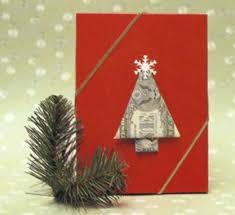 With A Few Quick Folds You Can Turn Dollar Bills Into This Stylishly Simple Pine Tree Use It To Decorate Gifts Cards Or Holiday Place Settings