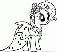 Pony Rarity Colouring Pages Page 3