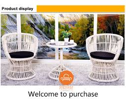 Modern Design Outdoor Furniture 2 Seater Rattan Wicker Cafe Table