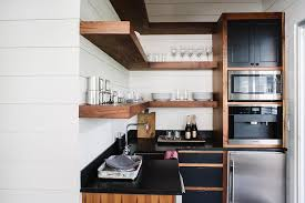 L Shaped Shelves White Kitchen Pantry With Floating Wood Trends