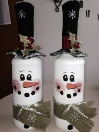 Decorative Wine Bottles Diy by 25 Diy Snowman Craft Ideas U0026 Tutorials Painted Wine Bottles