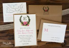 Uncategorized Incredible Full Wedding Invitation Sets Rustic Illustrated Kits