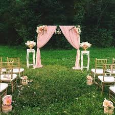 Vintage Ceremony Outdoor Wedding Pink Decorations