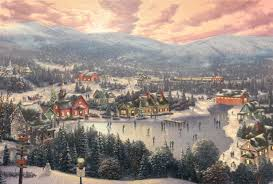 Thomas Kinkade Christmas Tree Village by Christmas