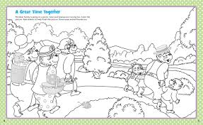 Berenstain Bears Christmas Tree Coloring Page by The Berenstain Bears Hugs And Kisses Sticker And Activity Book