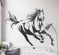 galoppierendes pferd wohnzimmer wandtattoo