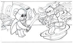 Coloring PageColoring Lego Pages Ninjago Free Images 14 Page