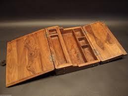 Free Woodworking Plans Lap Desk by Antique Vintage Style Folding Document Writing Slope Lap Desk
