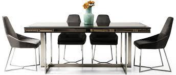 casa padrino luxus esszimmer set schwarz grau silber 1 esszimmertisch 6 esszimmerstühle luxus esszimmer möbel